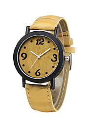 Fashion Luxury Vintage Watch 4 Color Yellow Dial Wood Grain Wristwatches Casual Bracelet Watch Outdoor Sports Watches Cool Watches Unique Watches