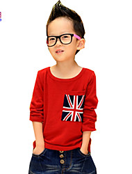 Waboats UK Flag Little Boys' Long Sleeve 3-7 Years Fashion-t-shirt