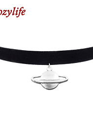 "Cozylife 3/8"" Girls Black Velvet Gothic Collar Vintage Choker Necklace with Solar System  Pendant"