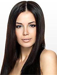 les femmes dentelle 10inch perruque avant ~ 24inch couleur de cheveux Inde (brun # 1 # 1b # 2 # 4) Yaki cheveux raides