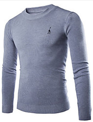 Intro Men's Casual Round Long Sleeve Sweaters