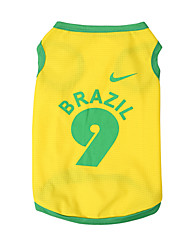 Doggy Apparel World Cup Football Style Pet Dog Clothes Mesh Vest