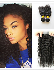 3Pcs/Lot Kinky Curly Hair Weaves 100% Human Afro Kinky Curly Weaves Brazilian Virgin Hair Weft Kinky Curly