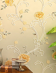 neue Regenbogen ™ modernen Tapete Art-Deco-warmen gelben Wandverkleidung Vlies Wandkunst