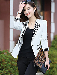Meng Jia Si Woman'S Commuting Long Sleeve Suit Collar Small Suit