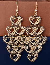 Top Quality European Style Multilayer Heart Drop Earrings for Wedding Party