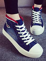 2015 New Arrival Spring/Autumn Style Shoe Walking Denim Canvas Sneakers Platform Black/Light Blue/Dark Blue