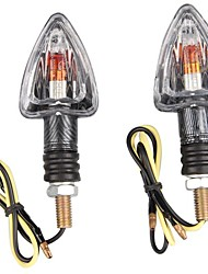 Motorcycle Motorbike Arrow Amber Light Indicator 12V (2 Pcs)