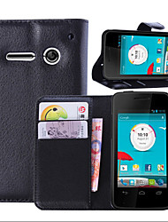 litchi alrededor enfrentamiento abierto teléfono funda adecuada para vodafone smart 4 mini ((color clasificado)