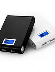 bateria externa de ji 12000mAh banco de potência LCD multi-saída para iphone6 / samsung Nota4 / Sony / HTC e outros dispositivos móveis