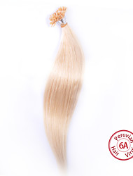 EVET Hair Products Brazilian Virgin Hair Silky Straight Hair U Tip Extensions 100g/lot Human Hair #613