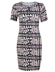 Fashion Women's Decorative Pattern Casual Party Tight Dress