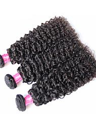 """3pcs / lot brazilian cabelo virgem encaracolado Kinky profunda onda # 1b 8 """"-34"""" cabelo humano brasileiro tece cabelo crespo crespo"""
