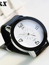 Women's Fashion Leisure Circle Quartz  Belt Watch(Assorted Colors)