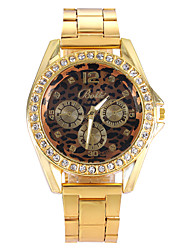 Women Watches Gold Watch Women Fashion Alloy Crystal Leopard Quartz Watch Cool Watches Unique Watches