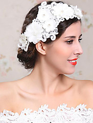 Flashion Charming Wedding Party USA Bride Flower Handmake White Headband Hair Accessories