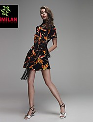 YIMILAN® Women's The New 2015 Unique Print Dress