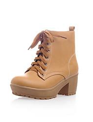 Zapatos de mujer - Tacón Stiletto - Botas Anfibias / Punta Redonda - Botas - Oficina y Trabajo / Vestido - Semicuero -Negro / Marrón /