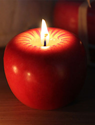 maçã novidade vela perfumada em forma de presente de natal 1 pc