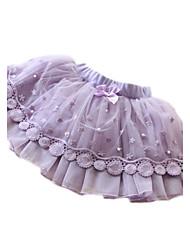 Girl's Summer Lace Tutu Skirts Thin Mini Pleated Skirt Princess Layered Mesh Muslin Sweet Gift