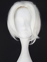 Cosplay Wigs Cosplay Cosplay White Short Anime Cosplay Wigs 28 CM Heat Resistant Fiber Male
