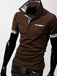 Повседневный - MEN - Футболки ( Органическийхлопок Как у рубашки - Короткий рукав