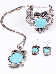 Women Vintage/Party/Work/Casual Alloy/Gemstone & Crystal/Cubic Zirconia Necklace/Earrings/Bracelet Sets