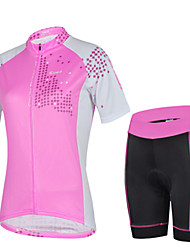 Short Sleeve Cycling Polyester +Coolmax Jersey and Pant Set Wear Clothing for Women
