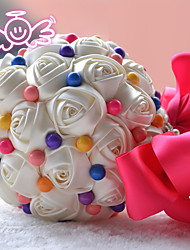"Bouquets de Noiva Redondo Lírios Buquês Festa / noite Cetim 9.06""(Aprox.23cm)"