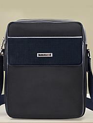 Men Cowhide Messenger Shoulder Bag - Blue / Brown