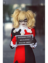 Cosplay wig BATMAN Harley Quinn Short Golden Blonde Anime Cosplay Hair Wigs