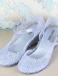 Women's Shoes Synthetic Wedge Heel Wedges/Round Toe Sandals Casual Pink/Silver