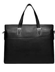 moda x.bnj cuero genuino de alta calidad para los hombres maletines negros del bolso del mensajero del bolso del negocio original