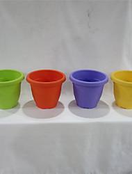 """shengerda 8.8 """"colorido mini-jardim vaso de plástico, uma dúzia de vasos de flores para um conjunto"""