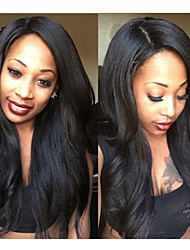 yaki italiano pieno merletto dei capelli umani parrucche malesi vergine yaki glueless parrucche piene del merletto per le donne nere 8