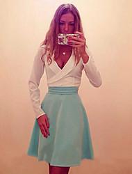 Robes ( Coton ) Vintage/Sexy/Informel/Soirée Femme