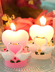 Little Swan Heart-shaped Candles Wedding Married Small Gift in Return Candles (Random Color)