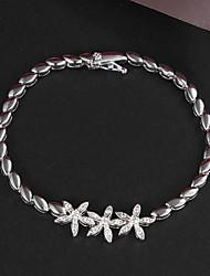nuovo platino placcato designparty link / catena di perle grande lustro reale zircone cristallo