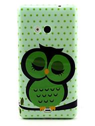 Для Кейс для Nokia С узором Кейс для Задняя крышка Кейс для Сова Мягкий TPU Nokia Nokia Lumia 535