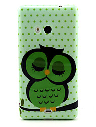 Sleeping Owl  Pattern TPU Soft Case for Nokia N535