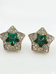 Earring Stud Earrings Jewelry Women Alloy / Imitation Pearl / Rhinestone 1set Gold