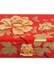 lavie®high qualité peinte en rouge cadeaux classiques chinois boîte à bijoux de laque lumière de poussée de style à partager