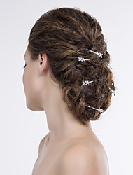 Women Alloy/Net Hair Pin With Rhinestone Wedding/Party Headpiece