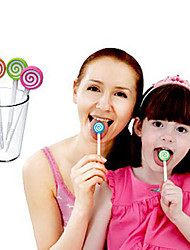 Lollipop Brush Tongue Cleaner Oral Care Tongue Cleaning Brush (Random Color)
