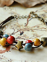 Bracelet - en Porcelaine - Vintage/Mignon/Soirée/Travail/Décontracté - Perlé/Breloque/Tressé / Cordon/Multiple