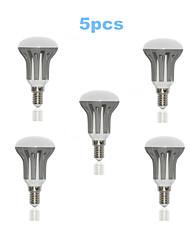 5W E14 Круглые LED лампы R50 18 SMD 2835 450-500 lm Тёплый белый / Холодный белый AC 220-240 V 5 шт.