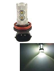 carking ™ h8 / h11 60w 12smd 2800ml 6000k luce led bianchi di nebbia lampadina testa luce di azionamento (cc 12v)