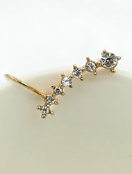 Brincos Curtos Cristal Moda Europeu Strass Chapeado Dourado 18K ouro imitação de diamante Áustria Cristal Prata Dourado Jóias Para 2pçs