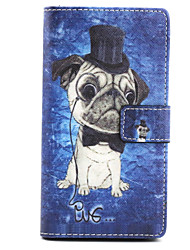 The dog  Design PU Leather Full Body Case with Stand for Sony Xperia M2