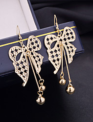 Top Quality European Style Bowknot Shape Drop Earrings for Wedding Party